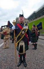 Drum Major in dress uniform